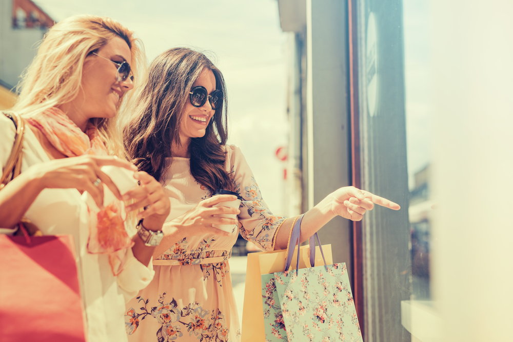 Women Are Posing Shopping